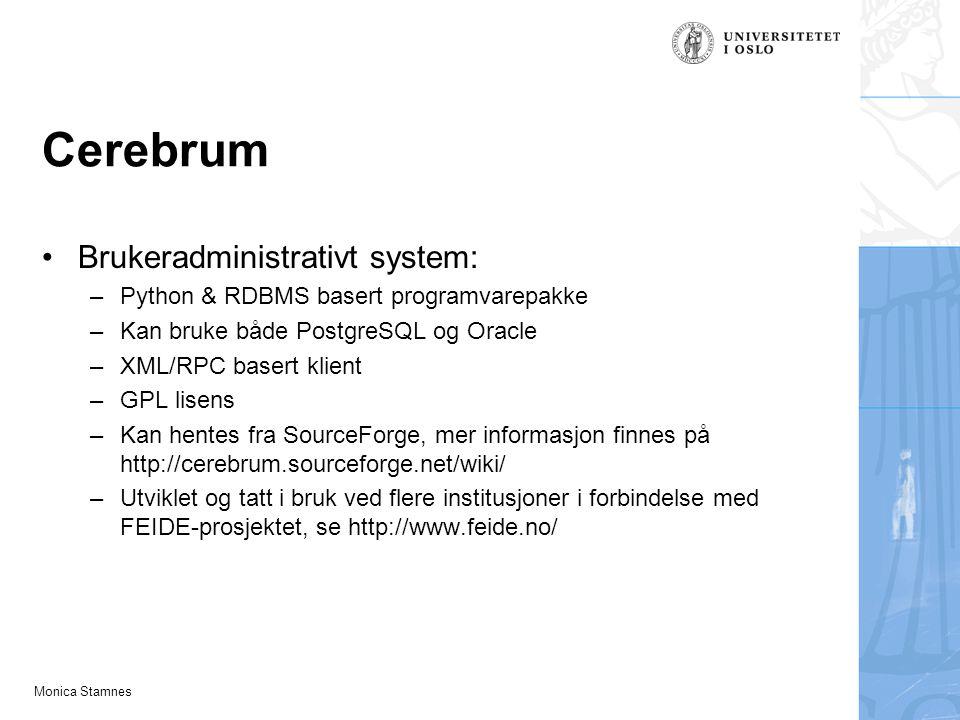 Cerebrum Brukeradministrativt system: