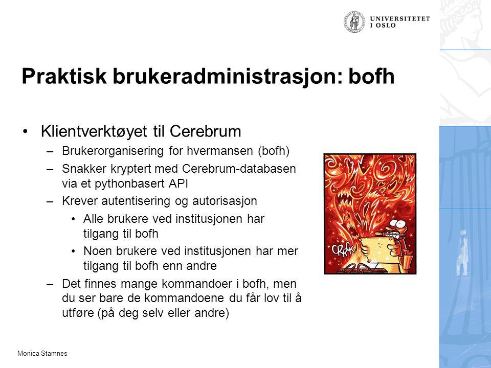 Praktisk brukeradministrasjon: bofh