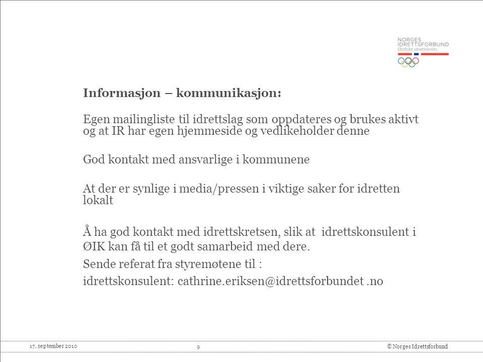 Informasjon – kommunikasjon: