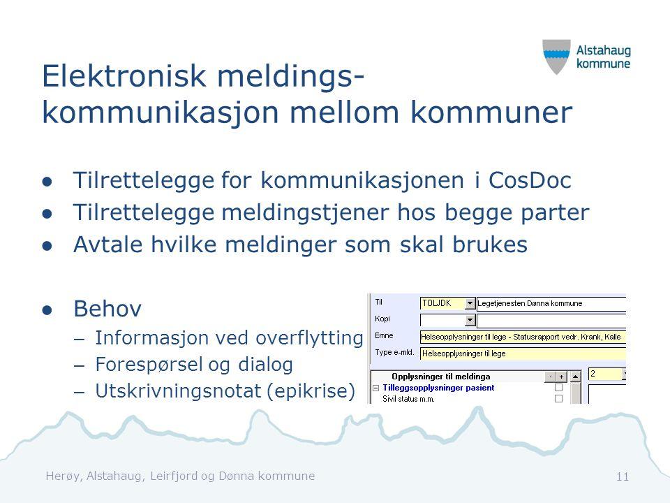 Elektronisk meldings- kommunikasjon mellom kommuner