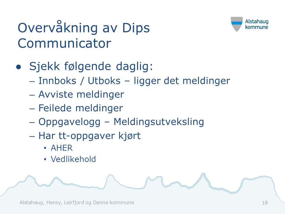 Overvåkning av Dips Communicator