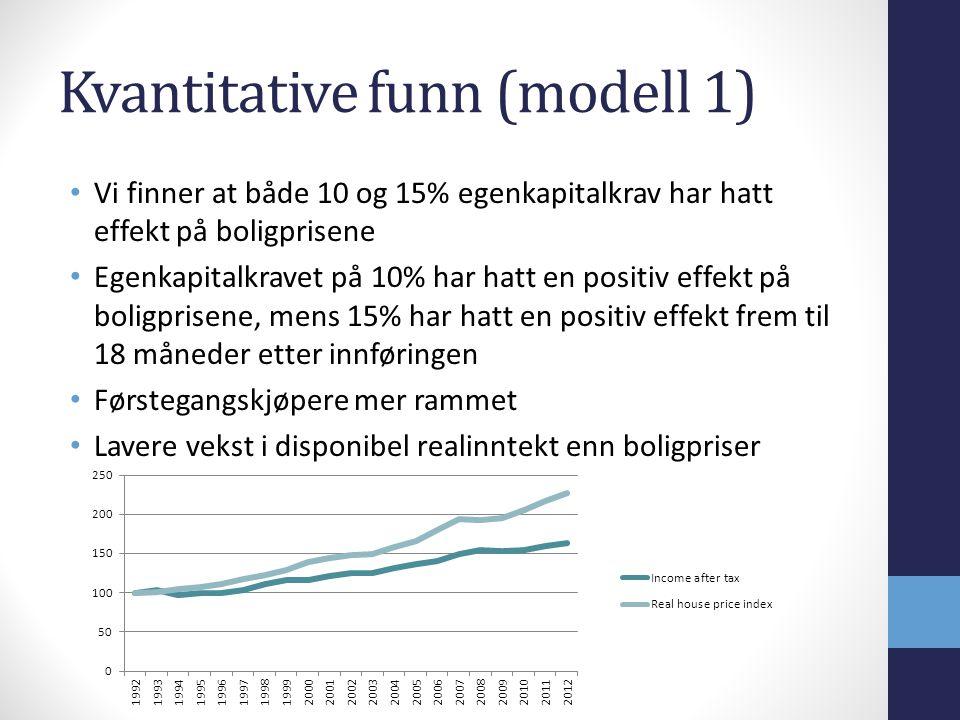 Kvantitative funn (modell 1)