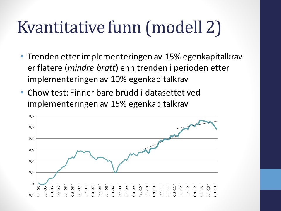 Kvantitative funn (modell 2)