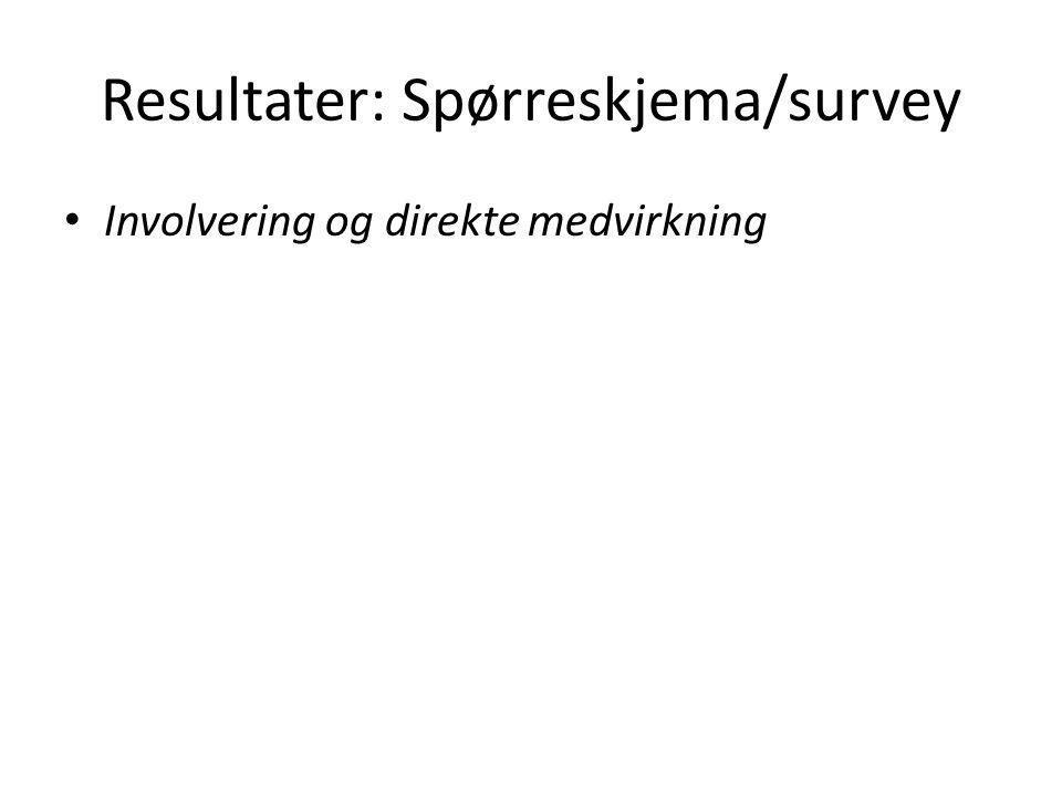 Resultater: Spørreskjema/survey