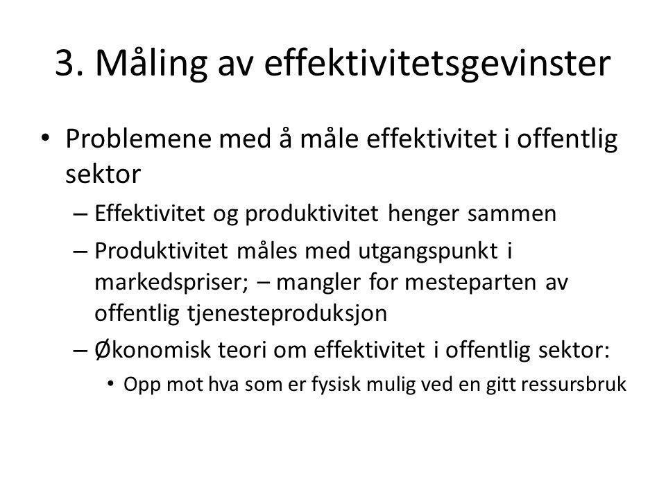 3. Måling av effektivitetsgevinster