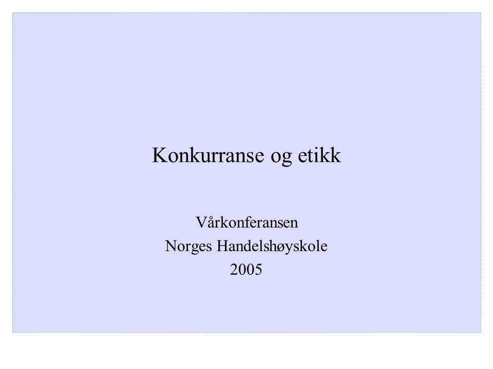 Vårkonferansen Norges Handelshøyskole 2005