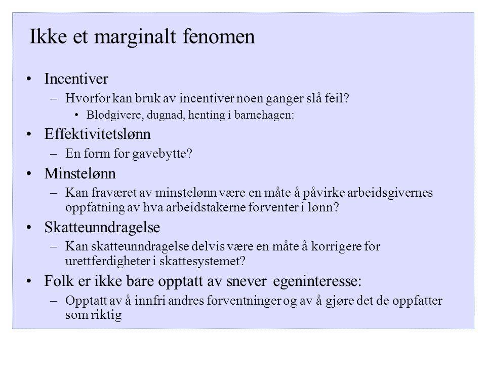 Ikke et marginalt fenomen