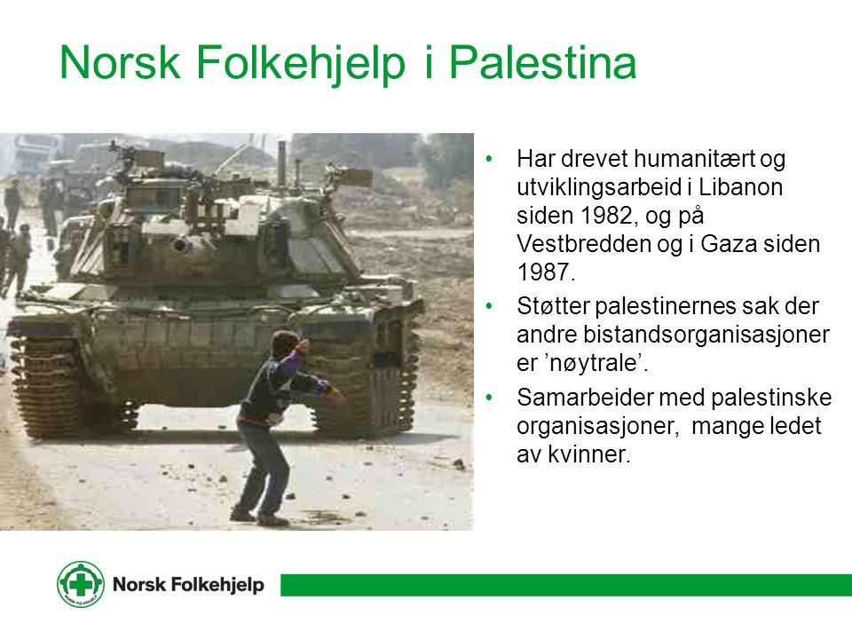 Norsk Folkehjelp i Palestina