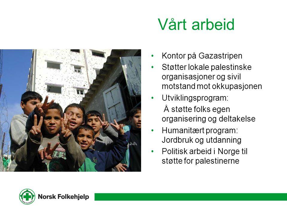 Vårt arbeid Kontor på Gazastripen