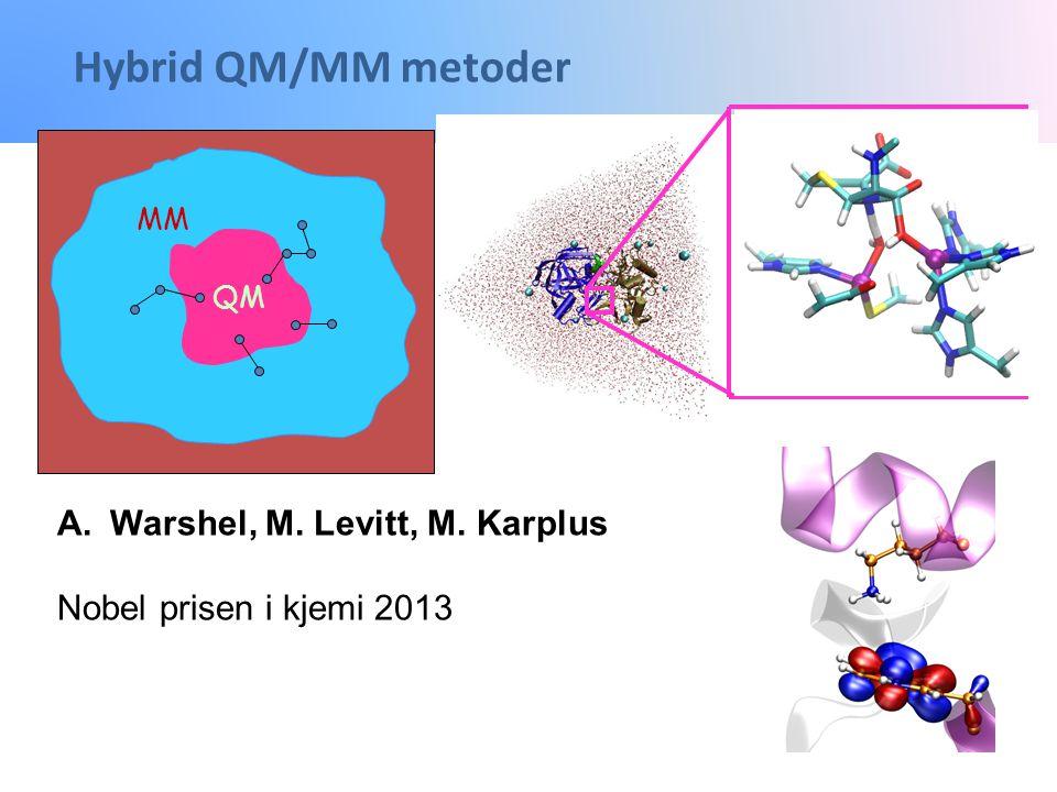 Hybrid QM/MM metoder Warshel, M. Levitt, M. Karplus