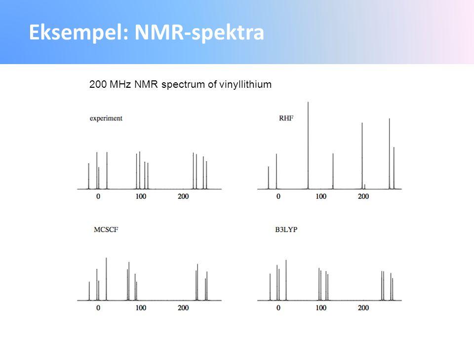 Eksempel: NMR-spektra