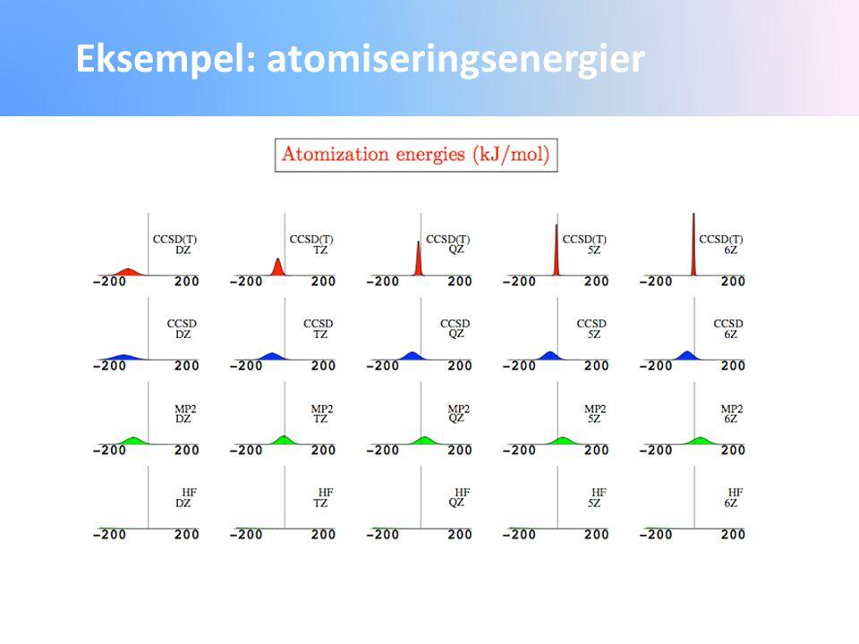 Eksempel: atomiseringsenergier