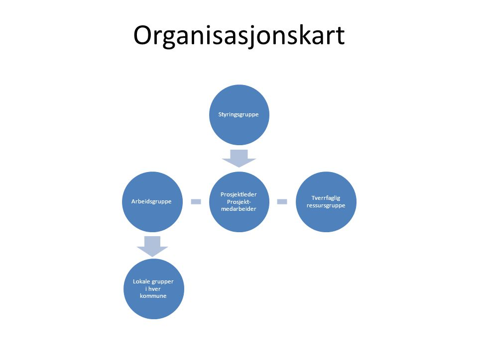 Organisasjonskart Omorganisering – oktober 2012