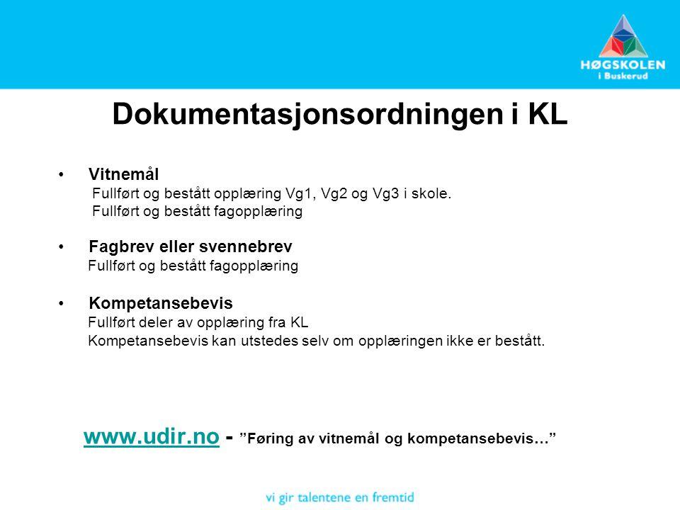 Dokumentasjonsordningen i KL