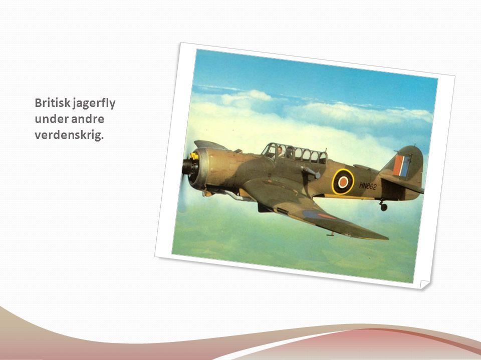 Britisk jagerfly under andre verdenskrig.