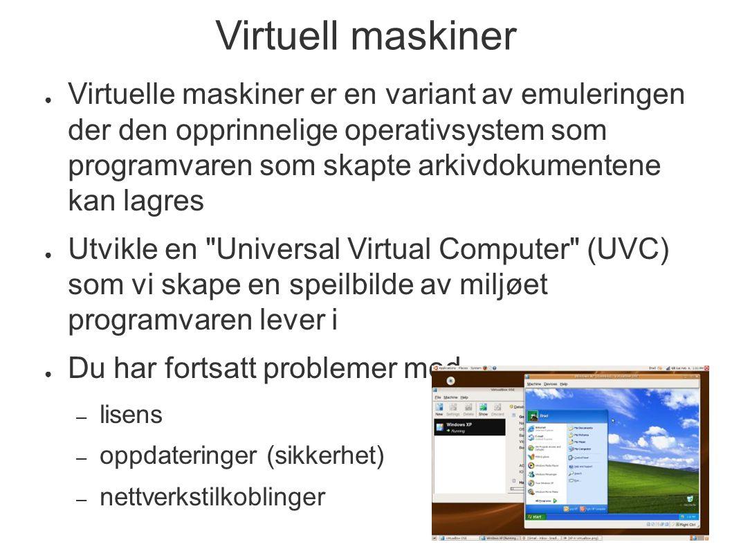 Virtuell maskiner