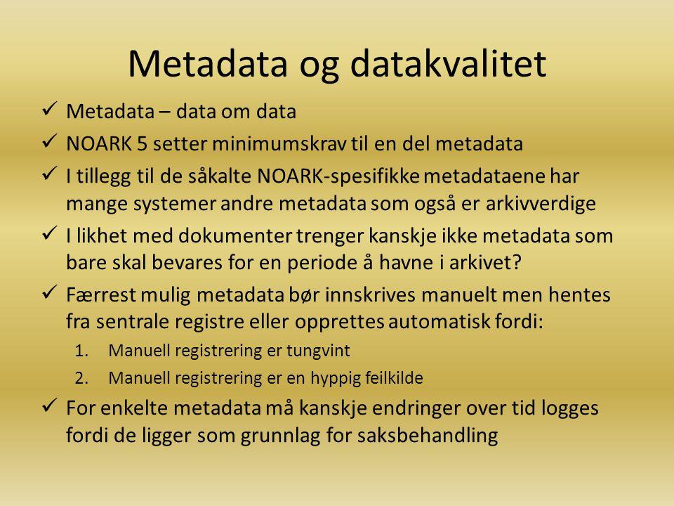 Metadata og datakvalitet