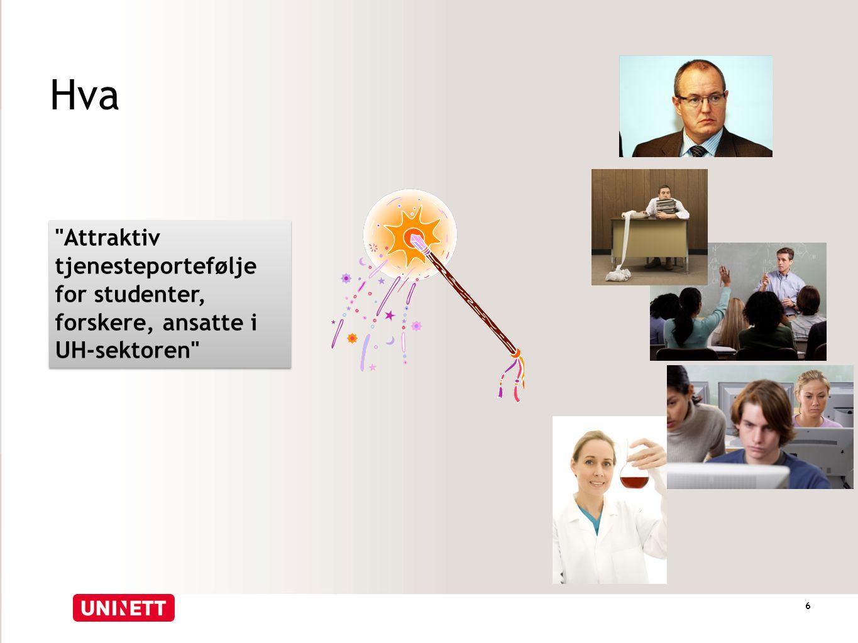 Hva Attraktiv tjenesteportefølje for studenter, forskere, ansatte i UH-sektoren