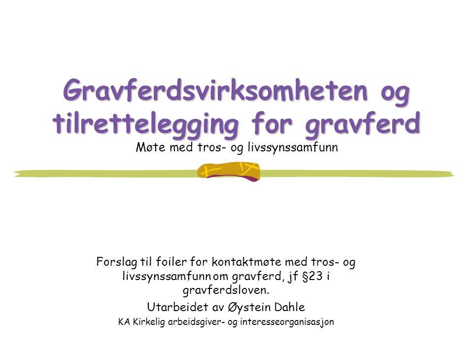 Gravferdsvirksomheten og tilrettelegging for gravferd Møte med tros- og livssynssamfunn