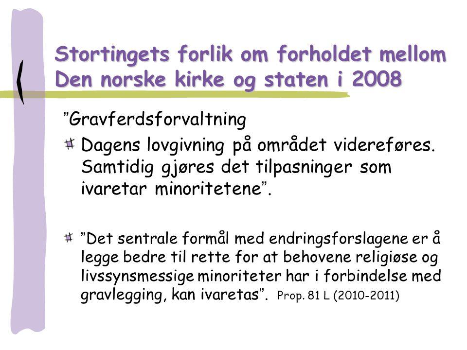 Stortingets forlik om forholdet mellom Den norske kirke og staten i 2008