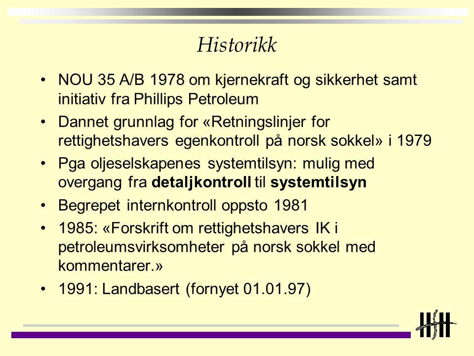 Historikk NOU 35 A/B 1978 om kjernekraft og sikkerhet samt initiativ fra Phillips Petroleum.
