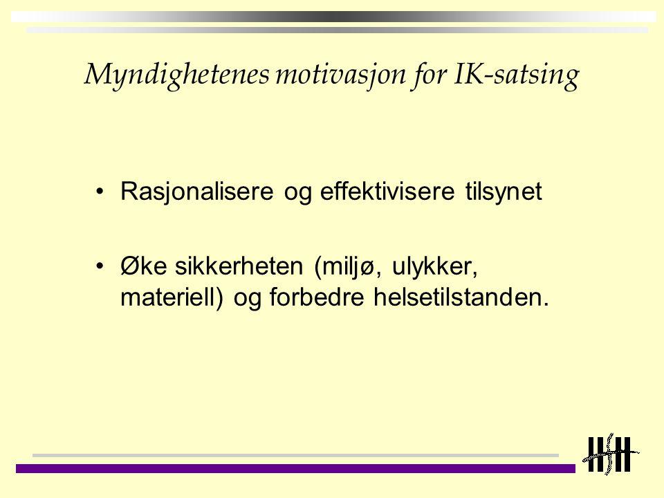 Myndighetenes motivasjon for IK-satsing