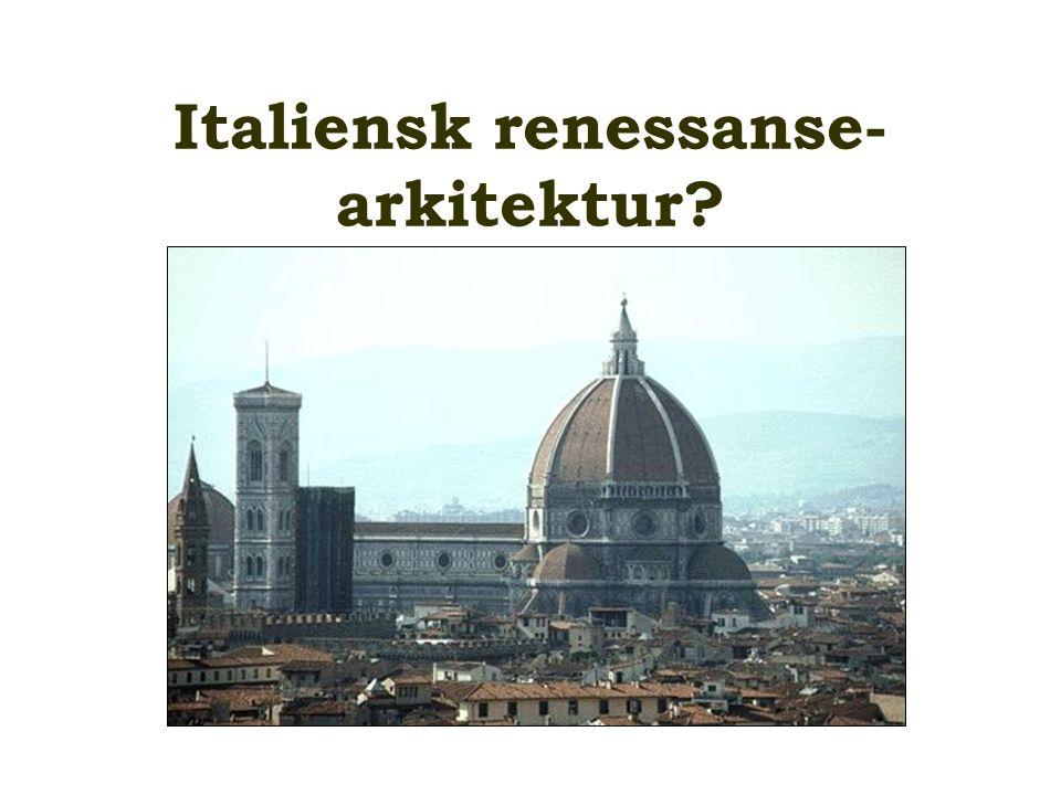 Italiensk renessanse-arkitektur