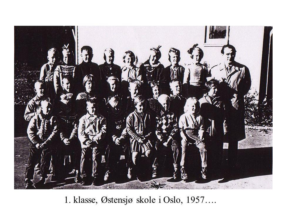 1. klasse, Østensjø skole i Oslo, 1957….