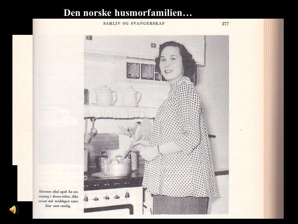 Den norske husmorfamilien…