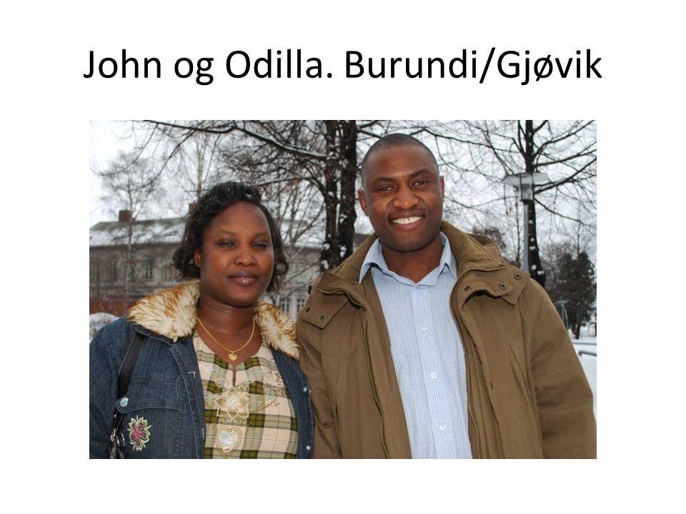 John og Odilla. Burundi/Gjøvik