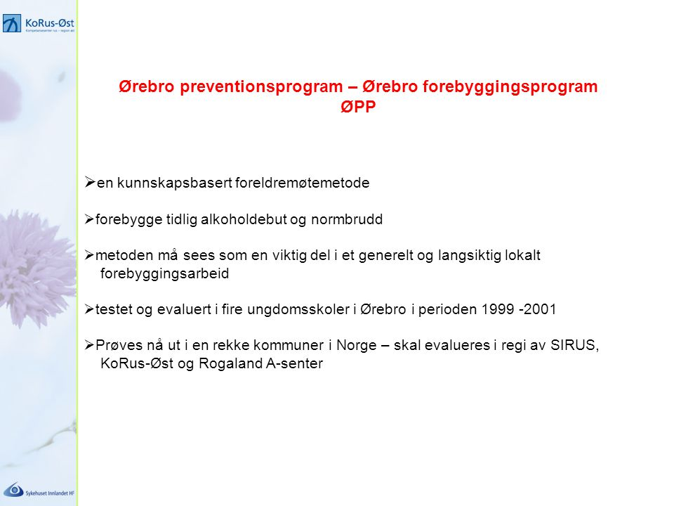 Ørebro preventionsprogram – Ørebro forebyggingsprogram