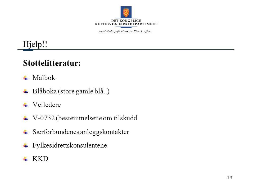 Hjelp!! Støttelitteratur: Målbok Blåboka (store gamle blå..) Veiledere