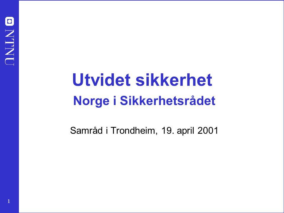 Utvidet sikkerhet Norge i Sikkerhetsrådet