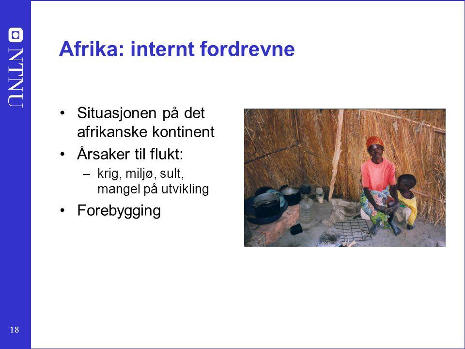 Afrika: internt fordrevne