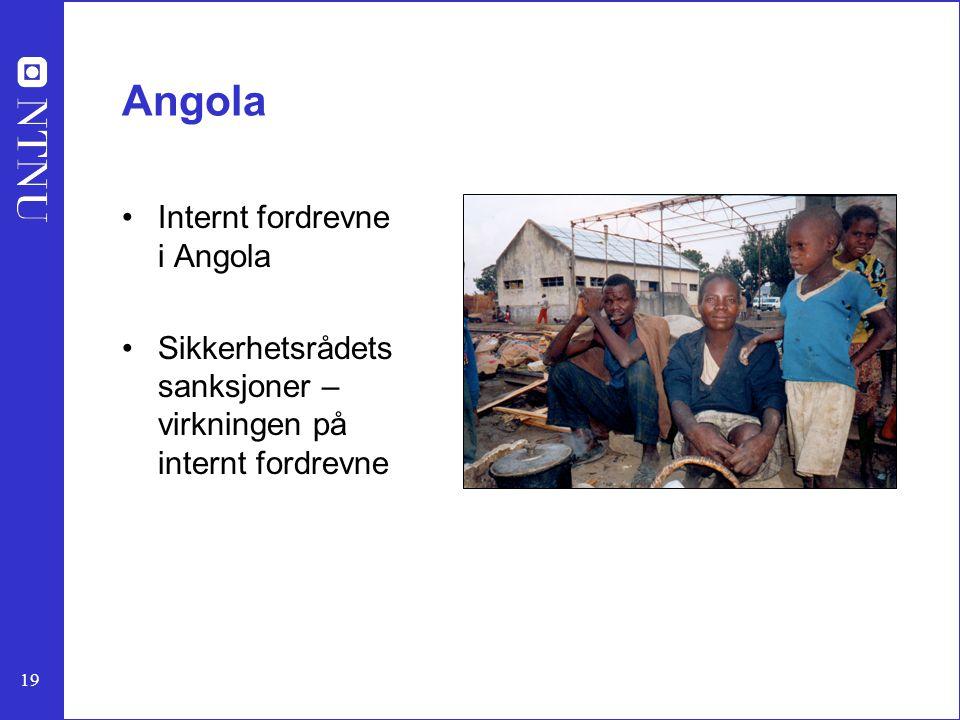 Angola Internt fordrevne i Angola