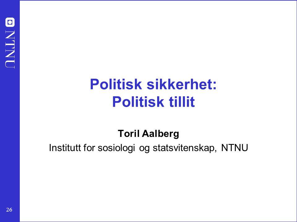 Politisk sikkerhet: Politisk tillit