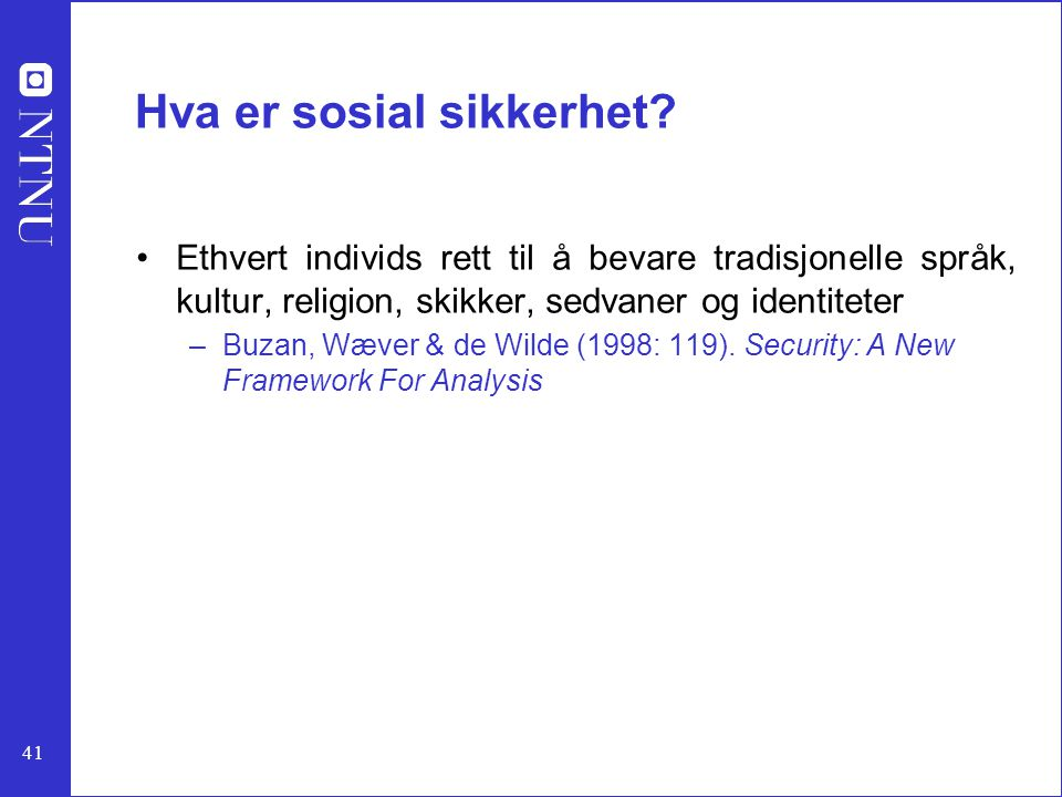 Hva er sosial sikkerhet