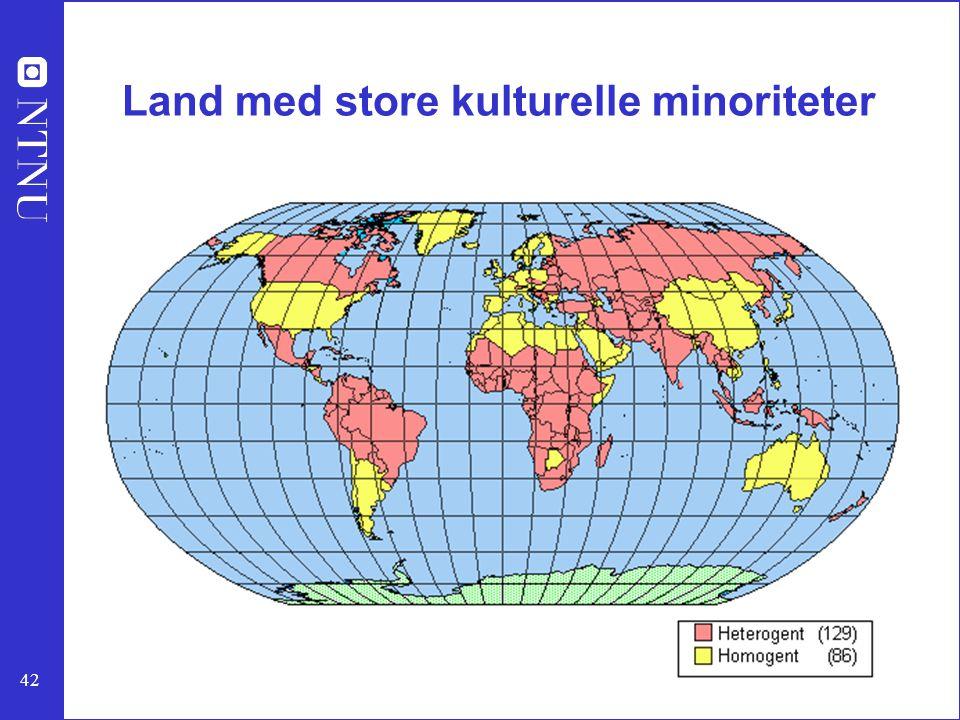 Land med store kulturelle minoriteter