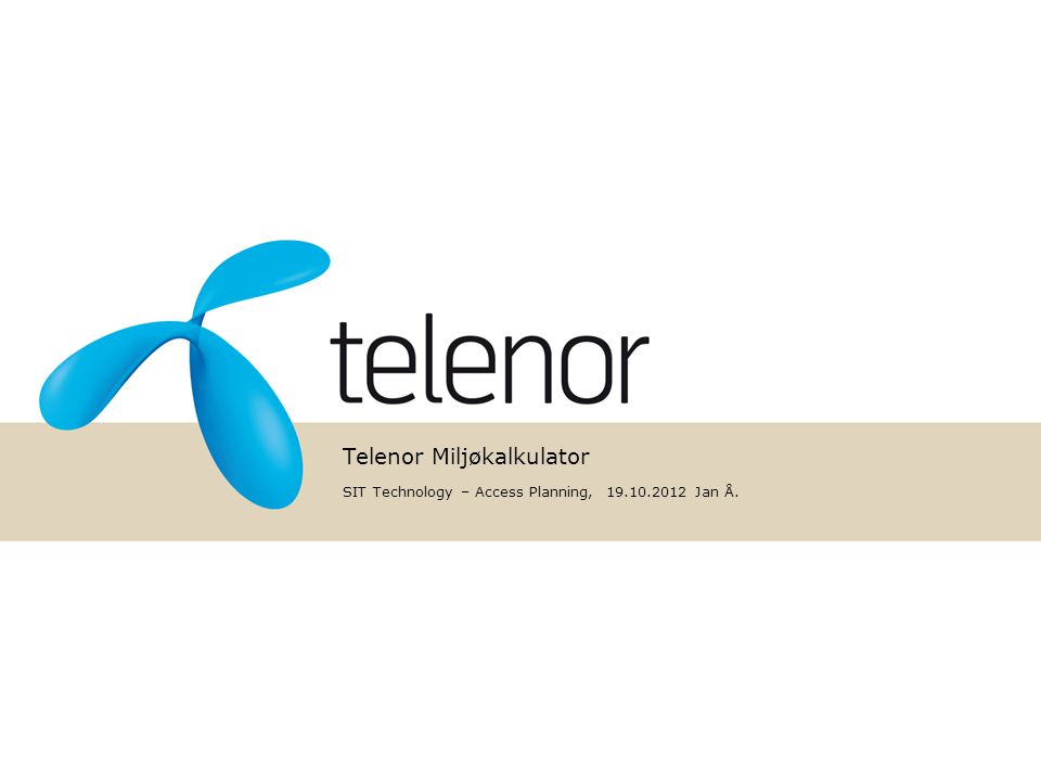 Telenor Miljøkalkulator