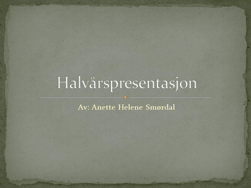 Av: Anette Helene Smørdal