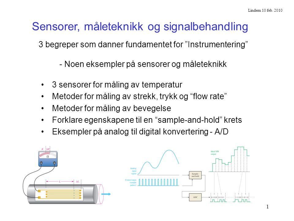 Sensorer, måleteknikk og signalbehandling