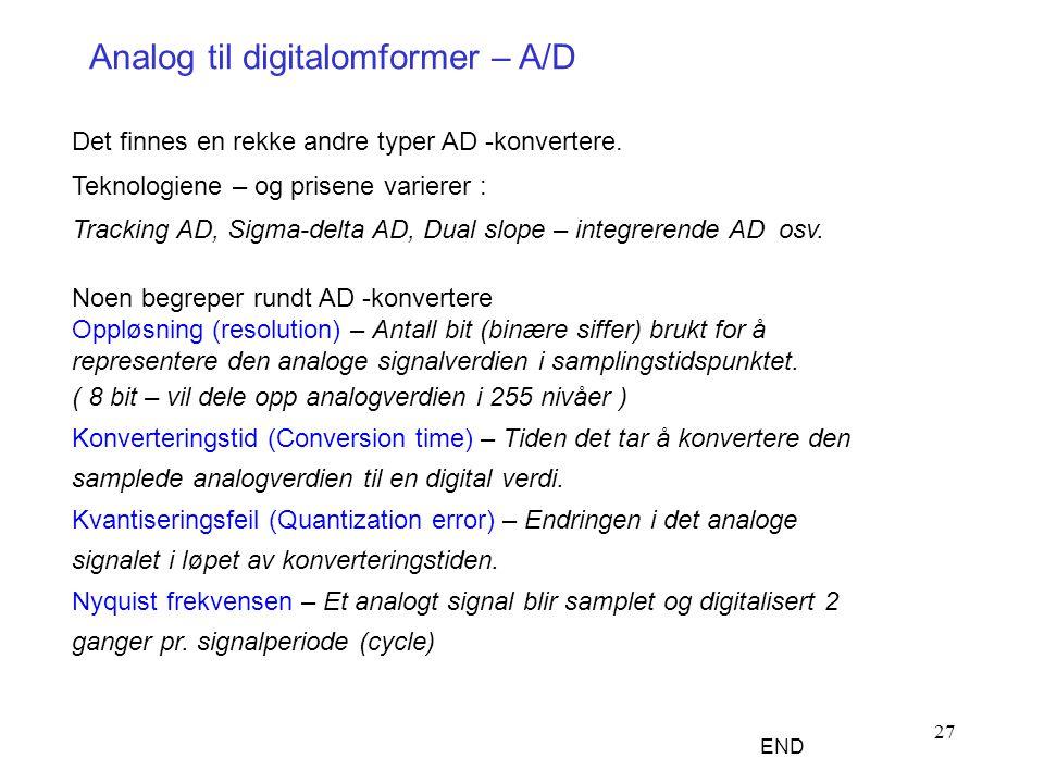 Analog til digitalomformer – A/D