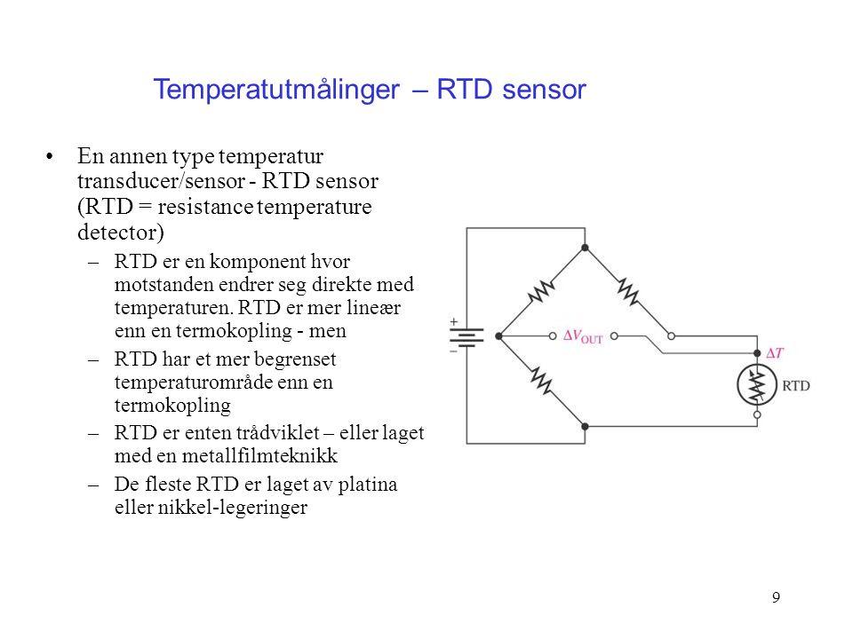 Temperatutmålinger – RTD sensor