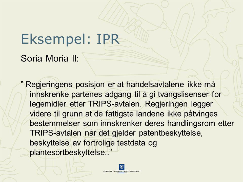 Eksempel: IPR Soria Moria II: