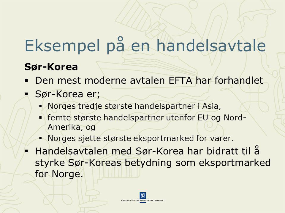 Eksempel på en handelsavtale