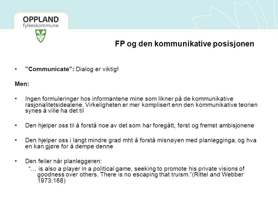 FP og den kommunikative posisjonen