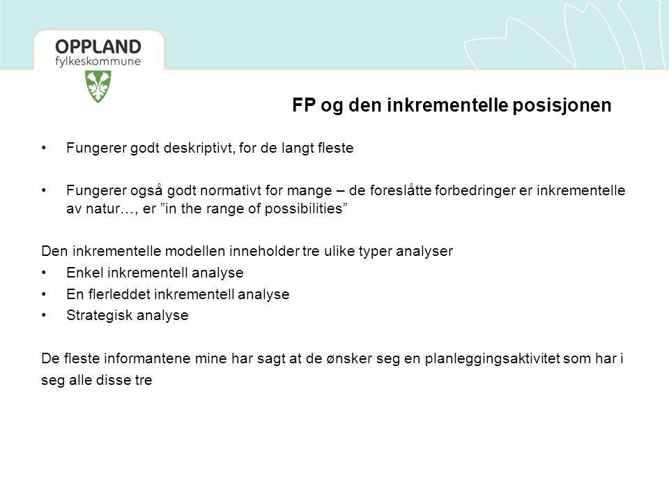 FP og den inkrementelle posisjonen