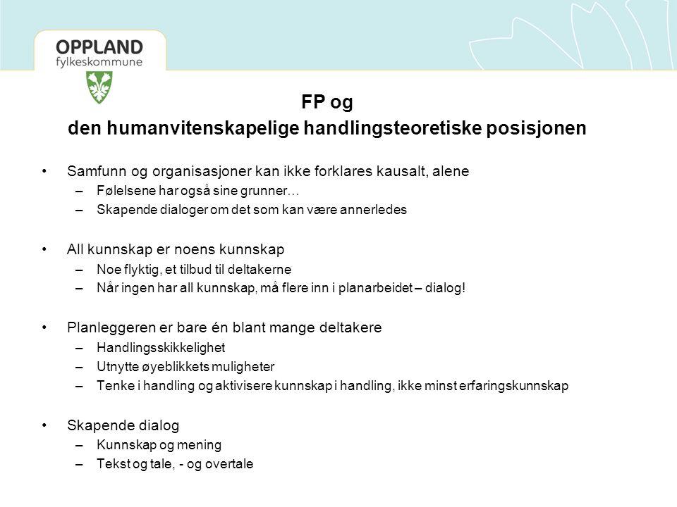 FP og den humanvitenskapelige handlingsteoretiske posisjonen