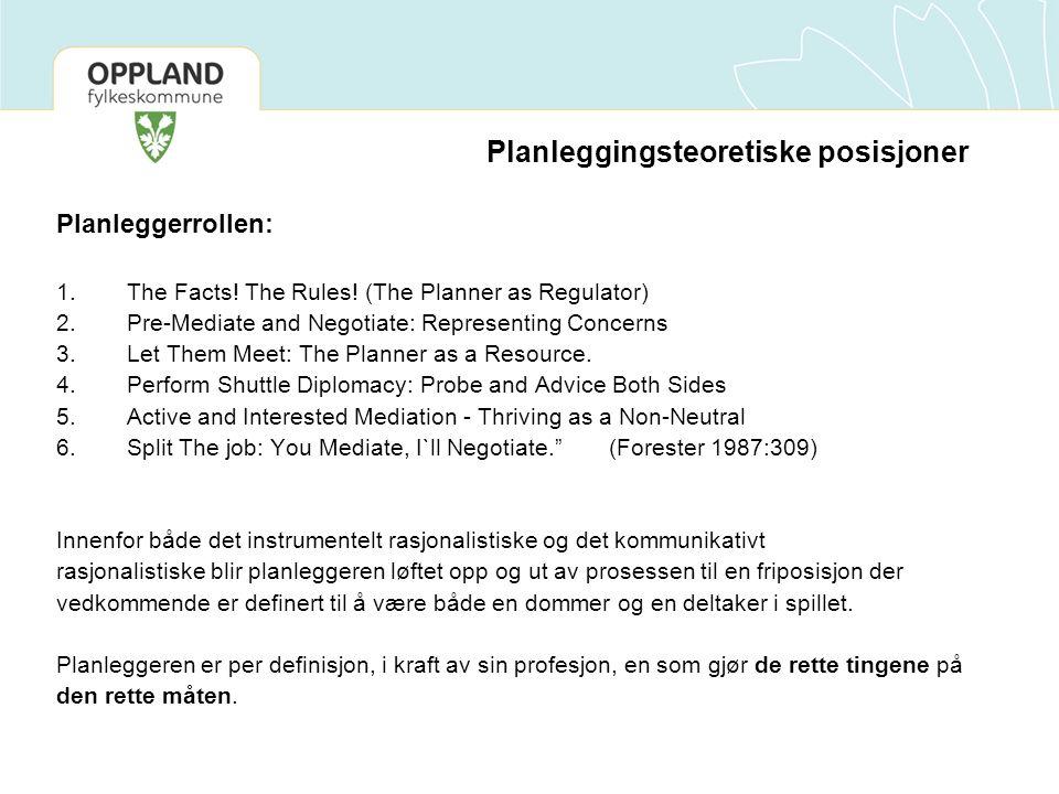 Planleggingsteoretiske posisjoner