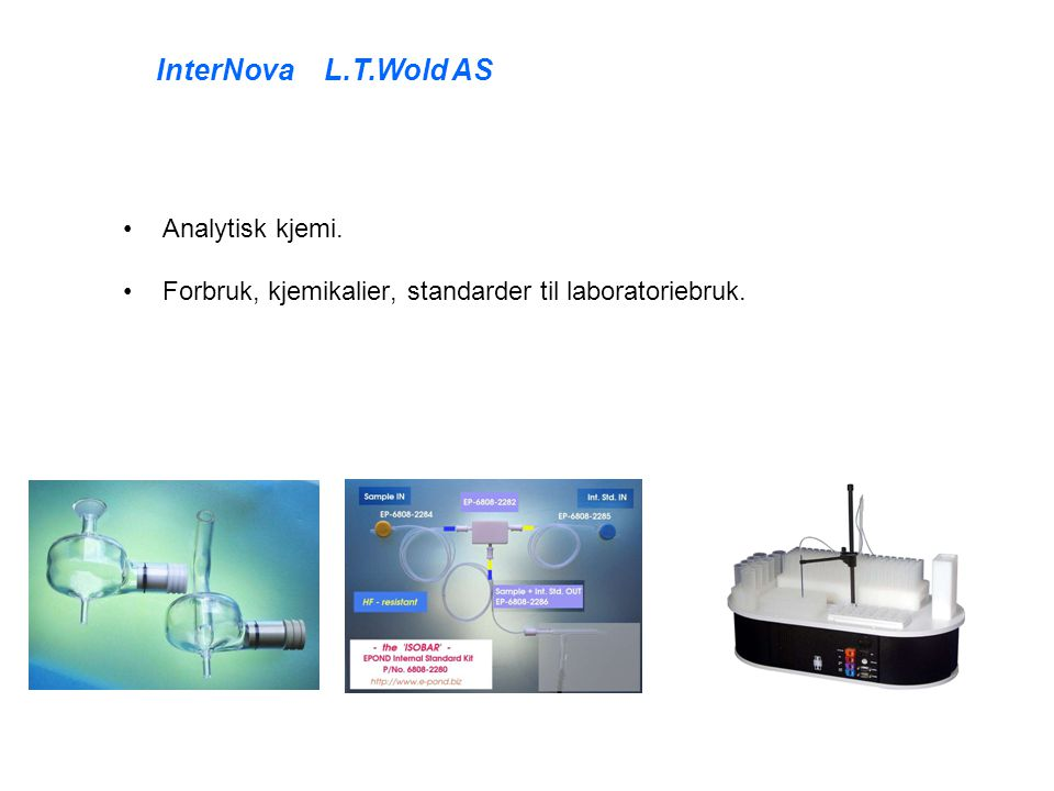 InterNova L.T.Wold AS Analytisk kjemi.
